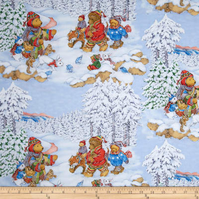 Snow Bears Metallic Silver Bear Scenic