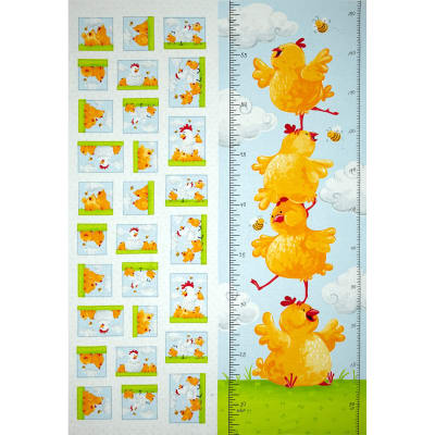Susybee Pippa & Chicks Pippa Growth Chart 30'' Panel Blue
