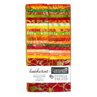 "Timeless Treasures Tonga Batik Sunburst 2.5"" Strips"