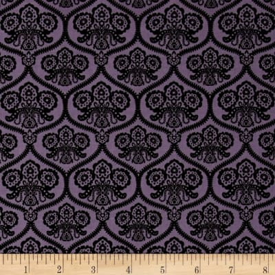 Riley Blake Happy Haunting Damask Purple