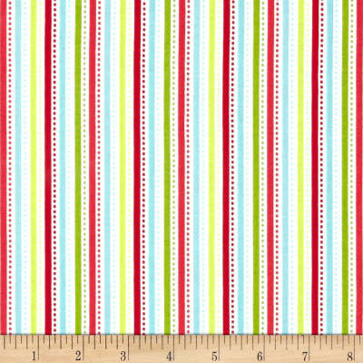 Riley Blake Santa Express Stripe Multi