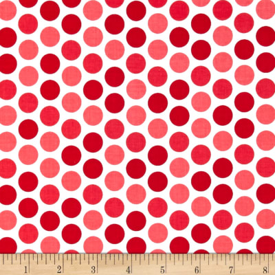 Riley Blake Santa Express Dot Red