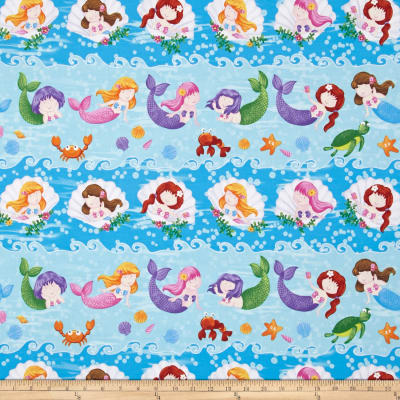 Little Mermaids Shelf Stripe Blue/Multi