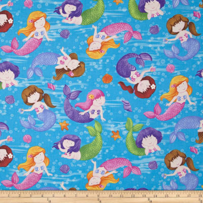 Little Mermaids Underwater Mermaids Blue