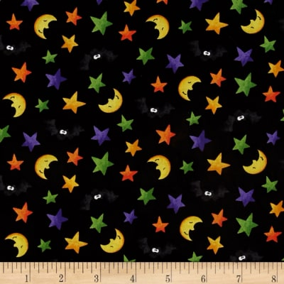 Happy Haunting Moon Stars & Bats Multi