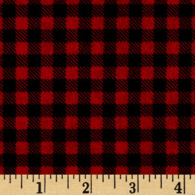 Mountain Lodge Flannel Buffalo Plaid Red/Black