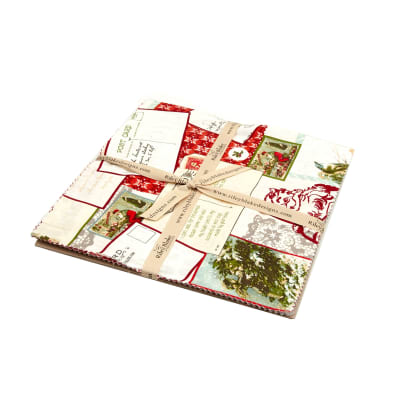 "Riley Blake Postcards for Santa 10"" Layer Cake Multi"