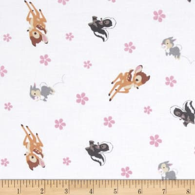 Disney Bambi Woodland Dreams Toss White