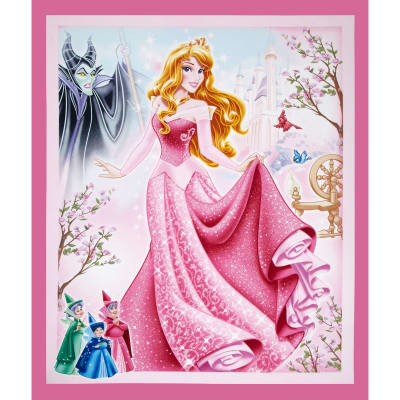 Disney Sleeping Beauty 36 In. Panel Pink