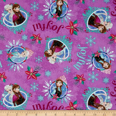 Christmas Disney Frozen Sisters Merry & Joyful Purple