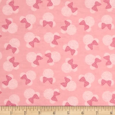 Disney Minnie Mouse Flannel Toss Pink