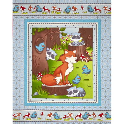Mr. Fox & Friends Baby Panel Multi