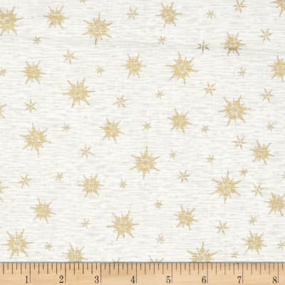 Holiday Blooms Metallic Gold Stars on Cream