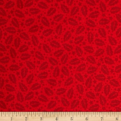 A Christmas Story Holly Tonal Red