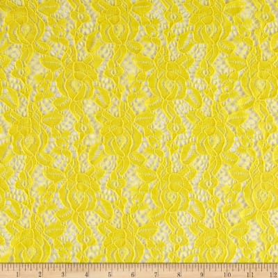 Camellia Lace Solid Yellow