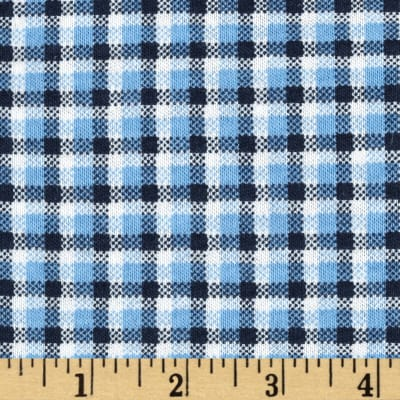Scout Collection Plaid Cotton Jersey Knit Blue