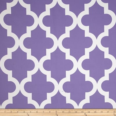 RCA Trellis Blackout Drapery Fabric Purple