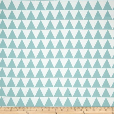 RCA Pax Triangles Blackout Drapery Fabric Aqua Mist