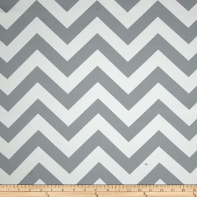 RCA Chevron Blackout Drapery Fabric Grey