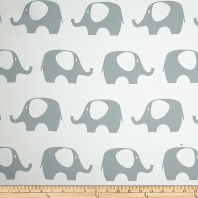 RCA Elephant Blackout Drapery Fabric Grey