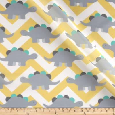 RCA Dinosaur Chevron Sheers Grey