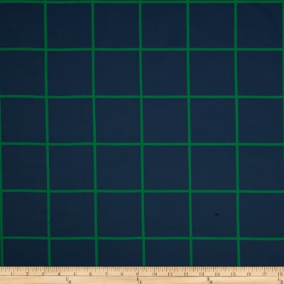 RCA Large Check Blackout Drapery Fabric Navy/Green