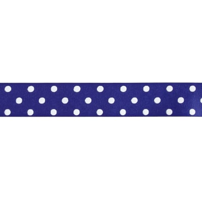 "1 1/2"" Grosgrain Polka Dot Ribbon Royal Blue"