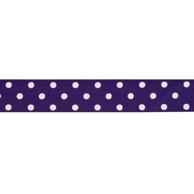 "1 1/2"" Grosgrain Polka Dot Ribbon Purple"