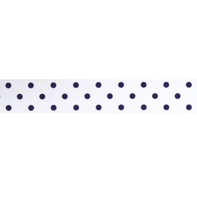 "1 1/2"" Grosgrain Rev Dot Ribbon Royal Blue"