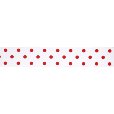 "1 1/2"" Grosgrain Rev Dot Ribbon Red"