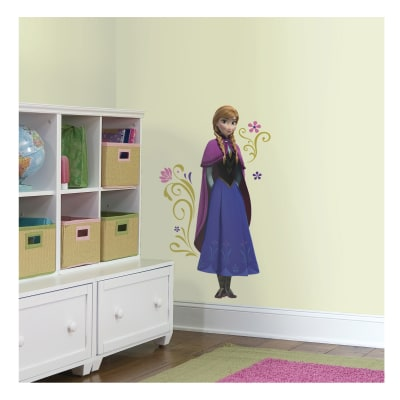 Frozen Anna With Cape Giant Wall Decal