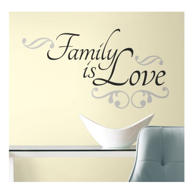 Family Is Love Wall Wall Decals