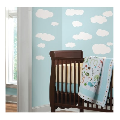 White Clouds Wall Decal