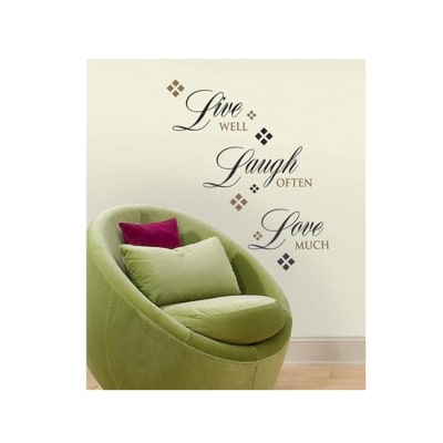 Live, Laugh, Love Single Sheet Wall Decal