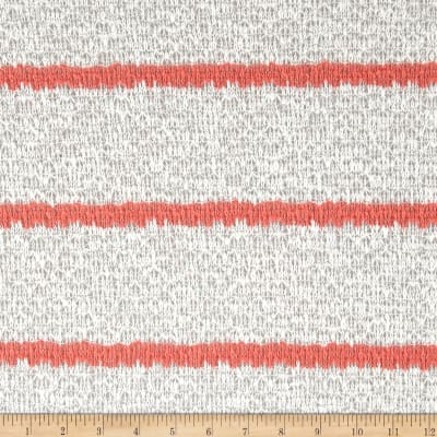 Open Weave Sweater Knit Stripe White/Melon