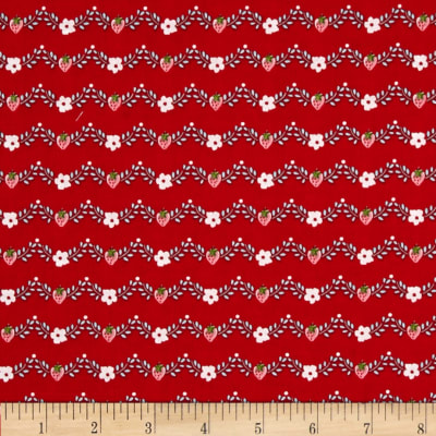 Riley Blake Vintage Market Vine Red