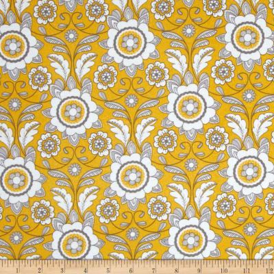 Riley Blake Parisian Flannel Scroll Yellow