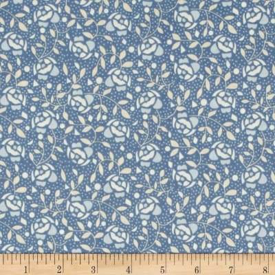 Penny Rose Forget Me Not Floral Navy