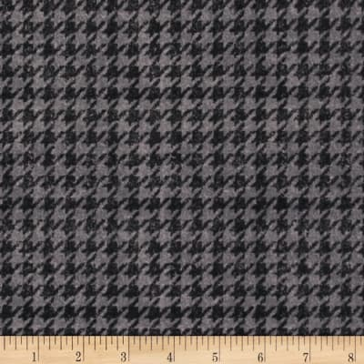 Penny Rose Menswear Flannel  Houndstooth Gray