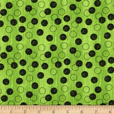 Every Witch Way Circles & Dots Lime/Black