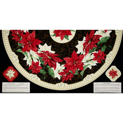 "Christmas Joy Tree Skirt 24"" Panel"