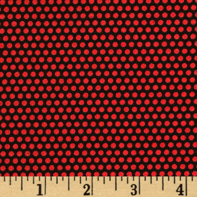 Sunshine Orchard Dots Black/Red