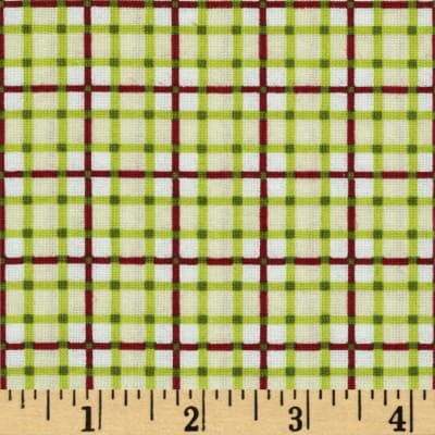 Sunshine Orchard Gingham Ivory/Green