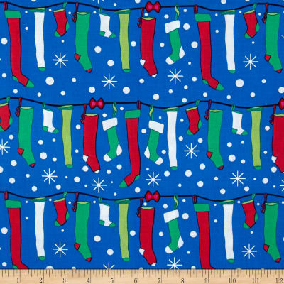Michael Miller All the Trimmings Stuff Stockings Starlight