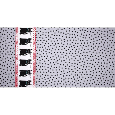 Michael Miller Cool Cats Cats & Dots Gray