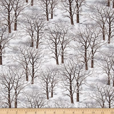 Sleigh Ride Trees Allover Gray