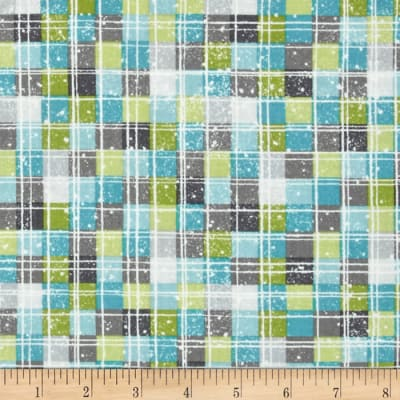 Debbie Mumm All Bundled Up Multi Checkers Blue/Green