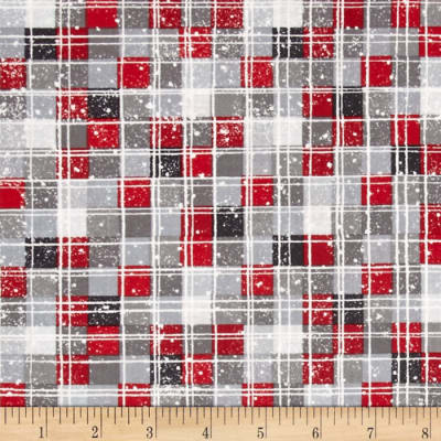 Debbie Mumm All Bundled Up Multi Checkers Gray/Red