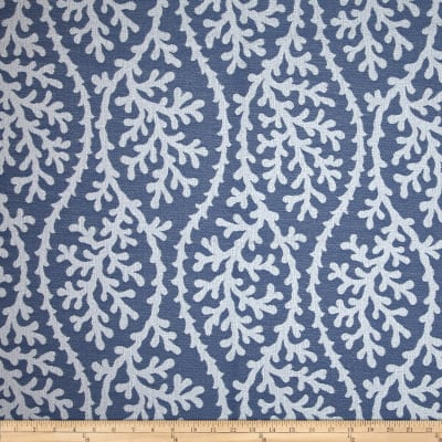 P Kaufmann Indoor/Outdoor Coral Gables Jacquard Nautical Blue