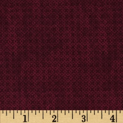 Essentials Criss-Cross Texture Dark Merlot
